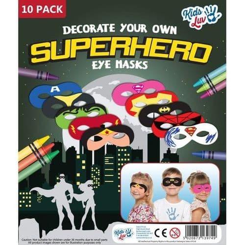 Superhero Masks - 10 Pack