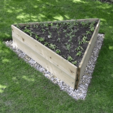 Triangle Timber Raised Bed