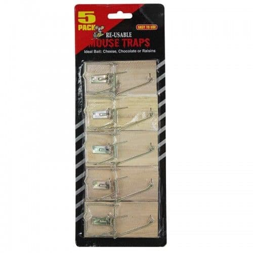 Wooden Mouse Traps  5 Pack