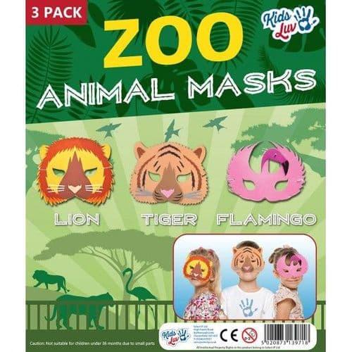 Zoo Animal Masks - 3 Pack
