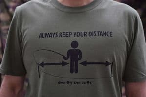 Always Keep Your Distance T-shirt (Olive Green)
