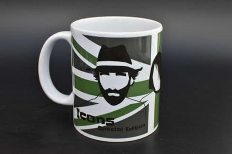 Green Union Jack Icons Mug - Special Edition