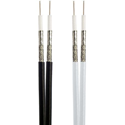 Ace 100m Twin RG6 Type Cable