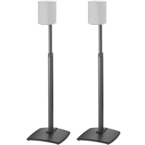 Sanus 2x Adjustable Height Wireless Speaker Stands for Sonos One, One SL, Play:1 and Play:3