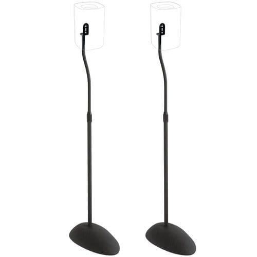 Sanus 2x Adjustable Speaker Stands for Satellite Speakers up to 4 lbs