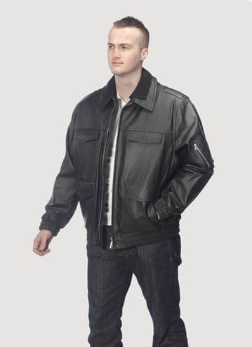 German Police Leather Jacket  Style 1 (Single)