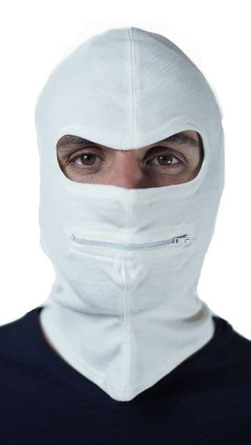 Italian White Balaclava (Pack of 10)