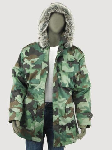 Serbian Camo Parka  fur trimmed hood (Single)