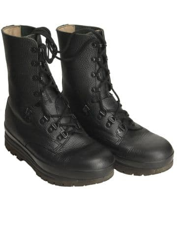Swiss Black Leather Combat Boot (Pack of 10)