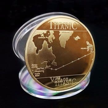 'The Voyage of Titanic' Gold Plated Coin