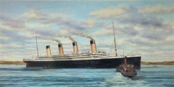 'Titanic at Queenstown' Ultra-Rare Limited Edition Print