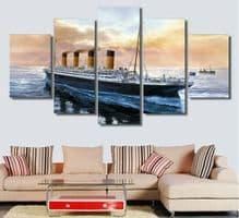 'Titanic' – Set of 5 Canvas Wall Art Giclée Prints