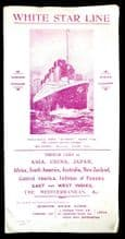 1913 RMS Olympic & White Star Line Sailing Schedule Brochure - Mentions Britannic!!