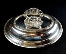1st Class Silver Oval Vegetable Dish