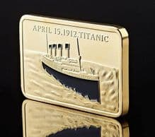 24 Karat Gold Plated RMS Titanic Commemorative Bar