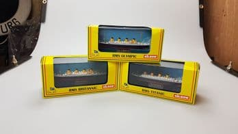 A set of Gilbow Olympic Class Liner models