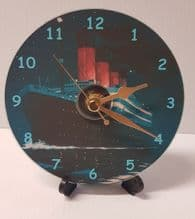 CD Disc Titanic Clock