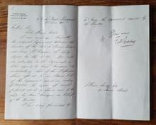 Genuine/Original Bruce Ismay, Handwritten Letter - 1902