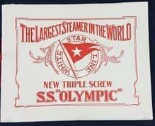 Original 1912 RMS Olympic Advertising Brochure