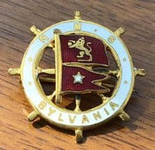 Original Cunard White Star RMS Sylvania Pin Badge/Brooch