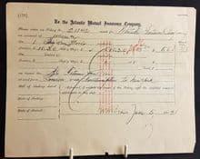 Original RMS Titanic Insurance Claim Document (1)