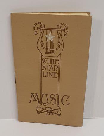 Original White Star Line Music Book