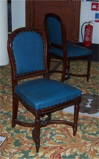 Original White Star Line RMS Majestic 1st Class Dining Chair(s)