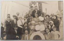 Rare/Original Photographic Postcard of Titanic Survivors!