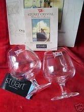 Rare Stuart Crystal Titanic Brandy Glasses