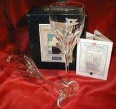 Rare Stuart Crystal White Star Line Titanic Wine Glasses