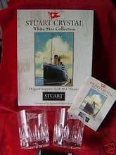 Rare Stuart Crystal White Star Line Whisky (Rummer) Glasses