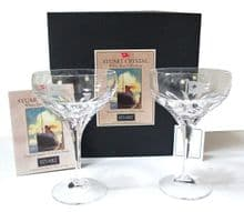 Rare Sturat Crystal RMS Titanic/Olympic Champagne Saucers