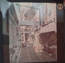 RMS Adriatic ('Big Four') Rare, Colourized Glass plate slide photograph