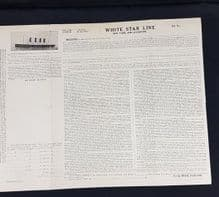 RMS Olympic, Bill of Lading receipt