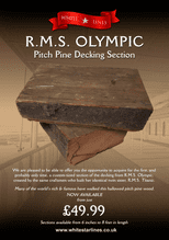 RMS Olympic Pitch Pine Decking