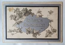 """RMS Titanic 2nd Class Passenger """"In Loving Remembrance"""" Card"""