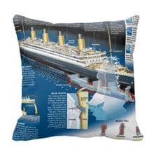 RMS TITANIC 'ANALYSIS' CUSHION COVER
