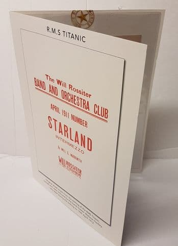 RMS Titanic Band Leader, Wallace Hartley Owned Sheet Music
