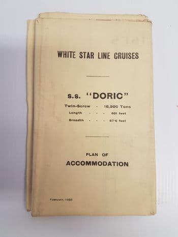S.S DORIC  ACCOMODATION PLAN