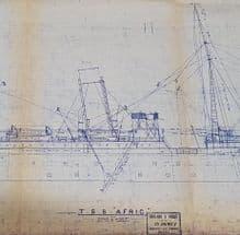 SS Afric Rigging Plan