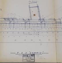 SS Cymric Rigging Plan