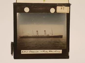 SS oceanic Original Glass plate slide photograph