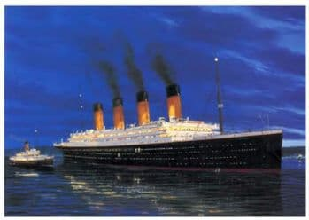 Titanic - At Anchor, Cherbourg