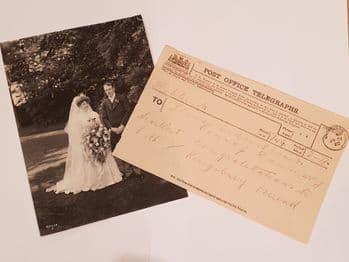 Titanic Chief Designer, Thomas Andrews Wedding Telegram