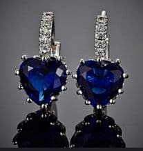 Titanic 'Heart of the Ocean' Earrings