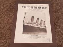 """Titanic Sheet Music - """"Plus Près De Toi Mon Dieu"""""""