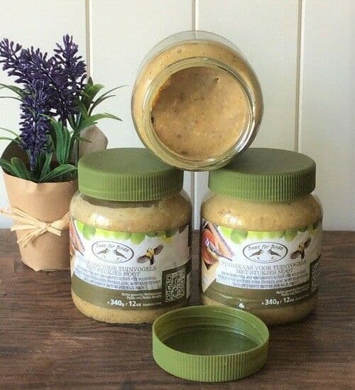 3 Jars of Special Mix Refill Peanut butter & Seed Bird food 340g/12oz