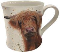 Bree Merryn Ceramic Betsy the Highland Cow Tea/Coffee Boxed Mug 8.5x8cm