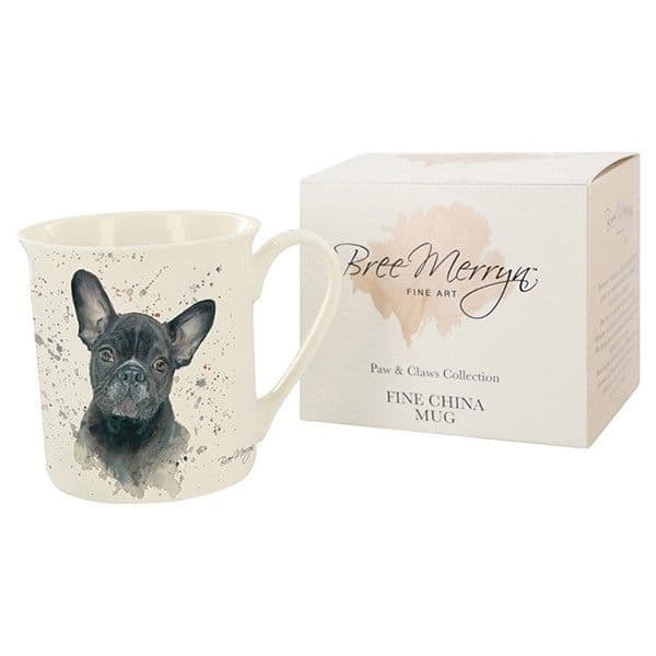 Bree Merryn Ceramic Fifi the French Bulldog Tea/Coffee Boxed Mug Gift 8.5x8cm