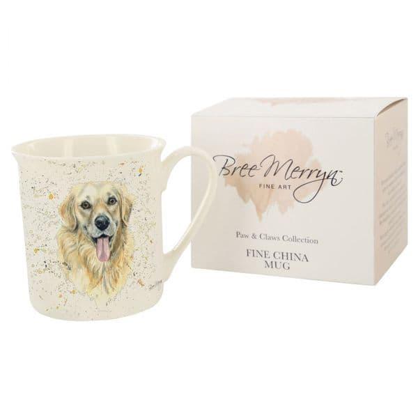 Bree Merryn Ceramic Paws Gwen Golden Retriever Tea/Coffee Boxed Gift Mug 8.5x8cm